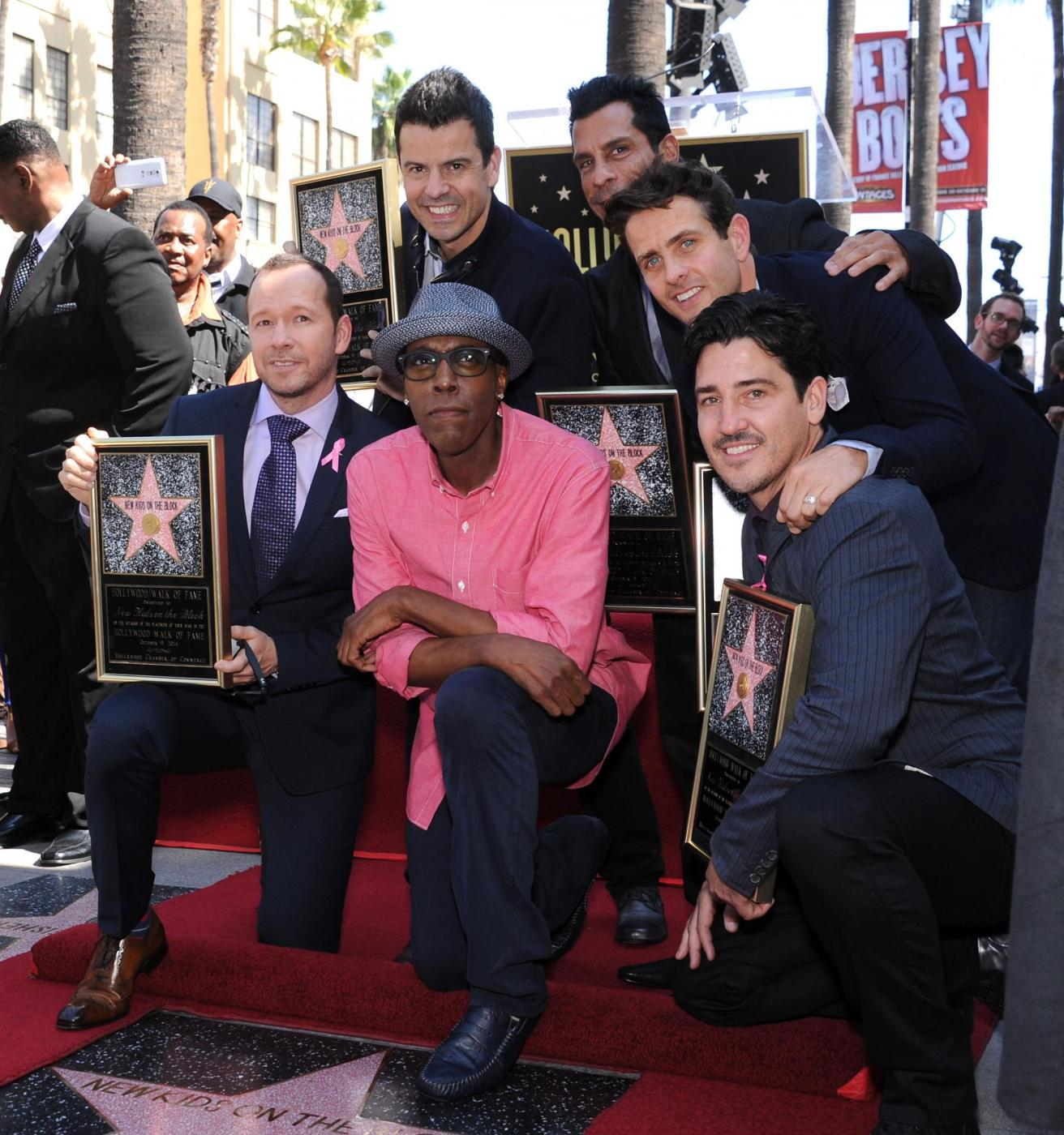 New Kids on the Block nella Walf of Fame di Hollywood Boulevard07