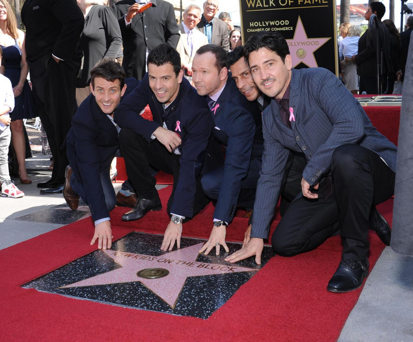 New Kids on the Block nella Walf of Fame di Hollywood Boulevard08