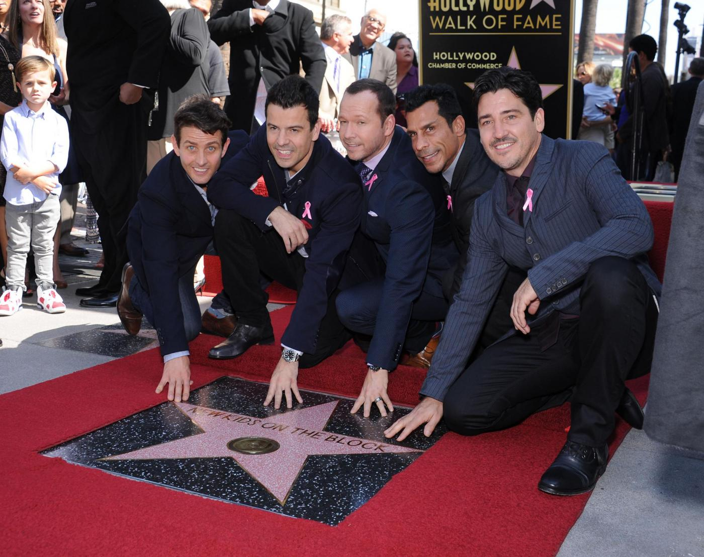 New Kids on the Block nella Walf of Fame di Hollywood Boulevard09