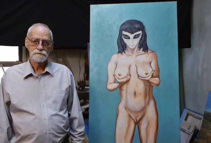 """David Huggins, pittore americano: """"Ho perso la verginità con un'extraterrestre"""""""