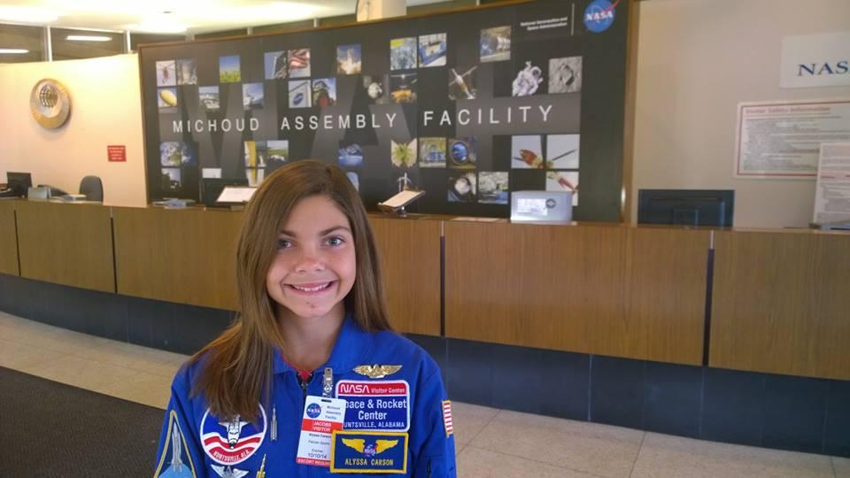 """Alyssa Carson, 13 anni: """"Sarò la prima astronauta a camminare su Marte"""""""