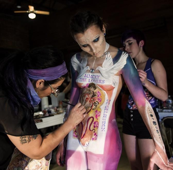 Body painting, i campionati: ad Atlanta arrivano gli alieni01