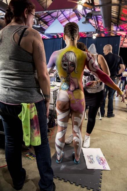 Body painting, i campionati: ad Atlanta arrivano gli alieni10