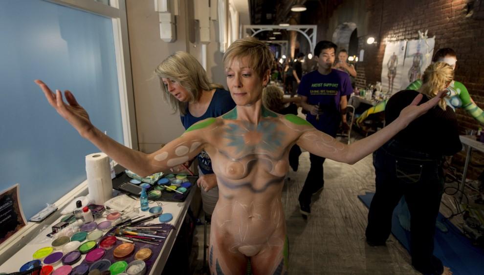 Body painting, i campionati: ad Atlanta arrivano gli alieni11