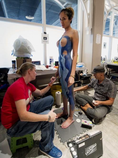 Body painting, i campionati: ad Atlanta arrivano gli alieni12