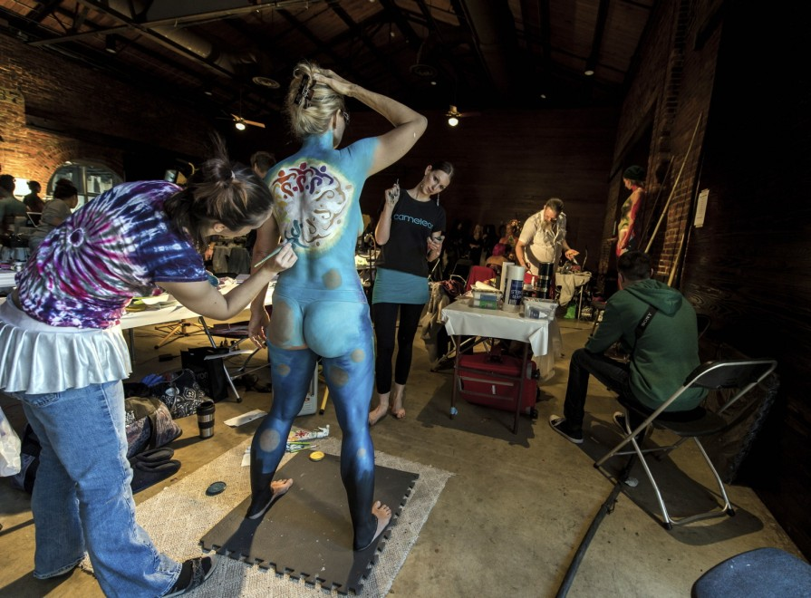 Body painting, i campionati: ad Atlanta arrivano gli alieni06