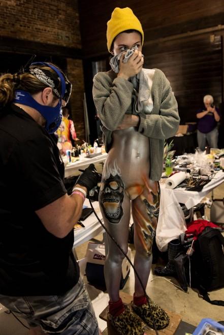 Body painting, i campionati: ad Atlanta arrivano gli alieni09