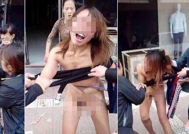 Cina, donne picchiano e spogliano l'amante del marito di una di loro (FOTO)