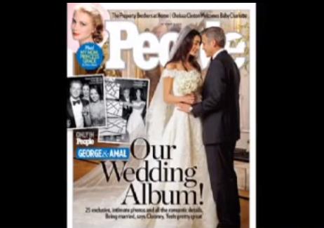 George Clooney e Amal Alamuddin, foto delle nozze esclusive su People ed Hello!