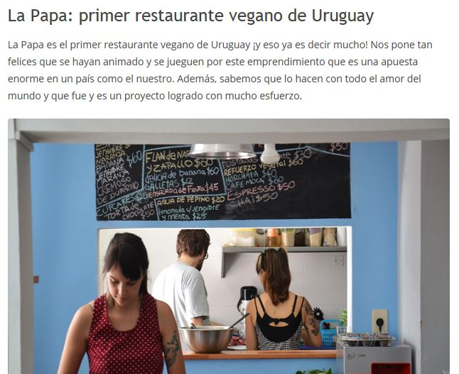 La Papa, il 1° ristorante vegano dell'Uruguay, Paese più carnivoro al mondo