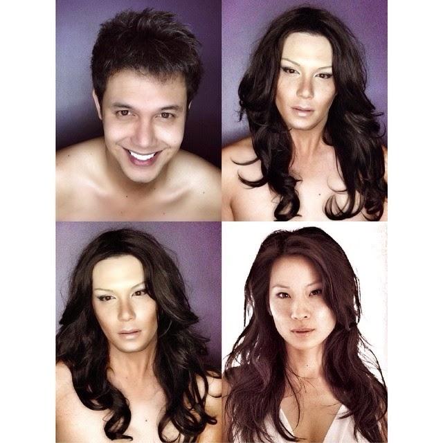 Megan Fox, Beyoncé, Lady D: Paulo Ballesteros è il genio del trasformismo FOTO02