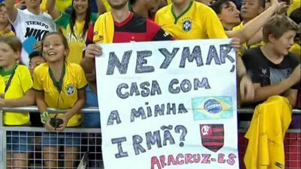 Tifoso del Brasile offre in sposa sua sorella a Neymar (FOTO)