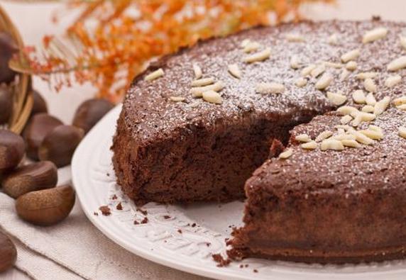 Ricette di dolci: torta castagne e cioccolato
