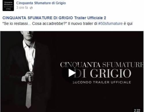 Cinquanta sfumature di grigio, secondo trailer ufficiale in italiano