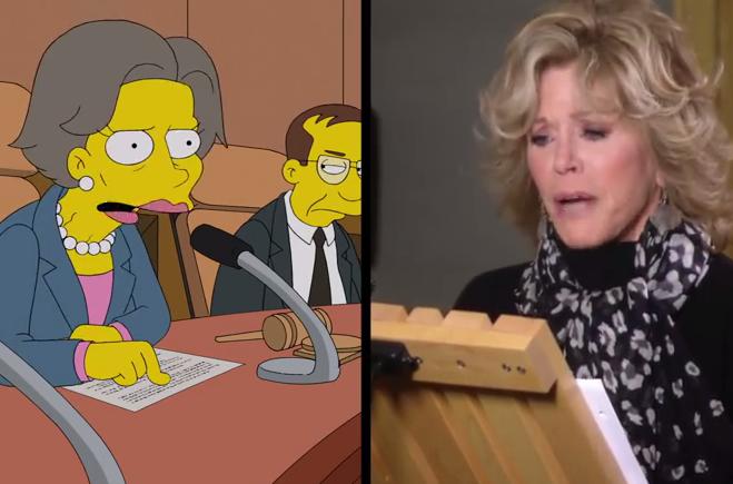 """Jane Fonda nei """"Simpson"""" si innamora del signor Burns VIDEO"""