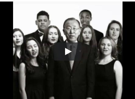 "Ban Ki Moon canta ""Imagine"" per Unicef con Katy Perry, Craig David, Hugh Jakcman"