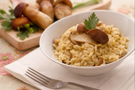 Ricette di primi: risotto ai funghi porcini