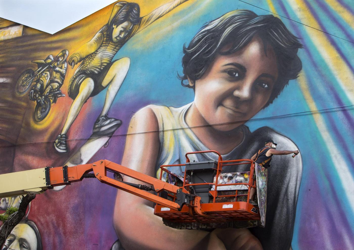 Buenos Aires, murales El Regreso de Quinquela3