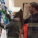 Carlos Tevez, shopping a via Montenapoleone con la moglie Vanesa05