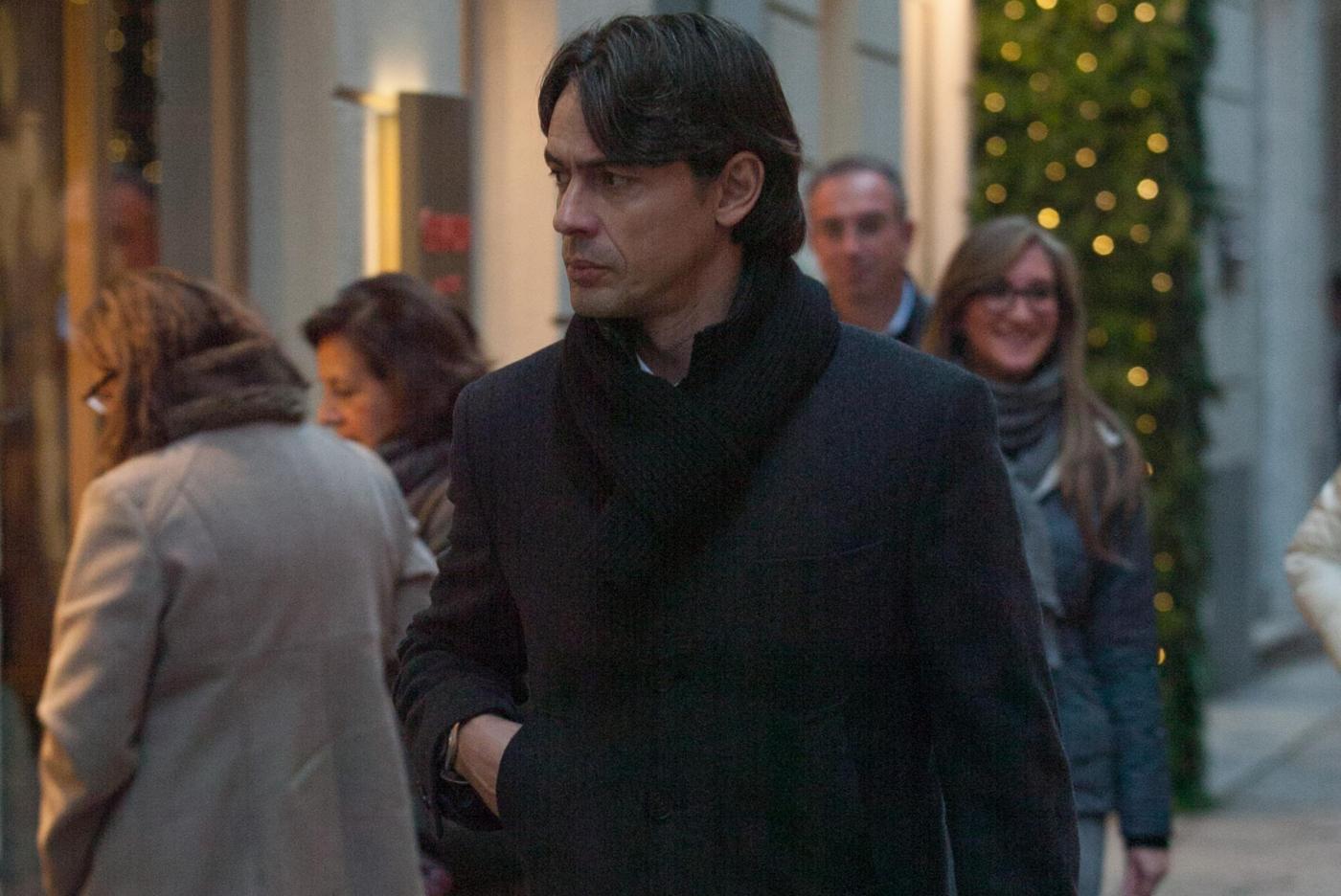 Pippo Inzaghi, shopping a via Montenapoleone06