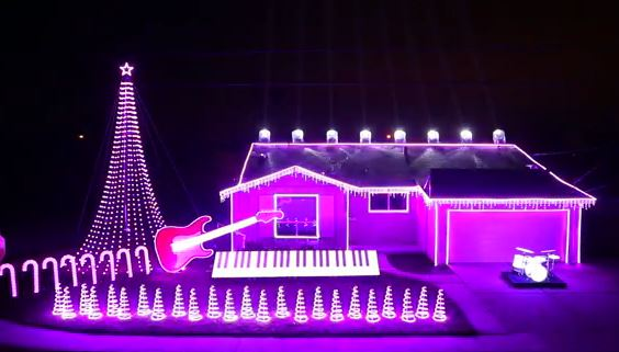 Spettacolari luci di Natale con la musica di Star Wars VIDEO