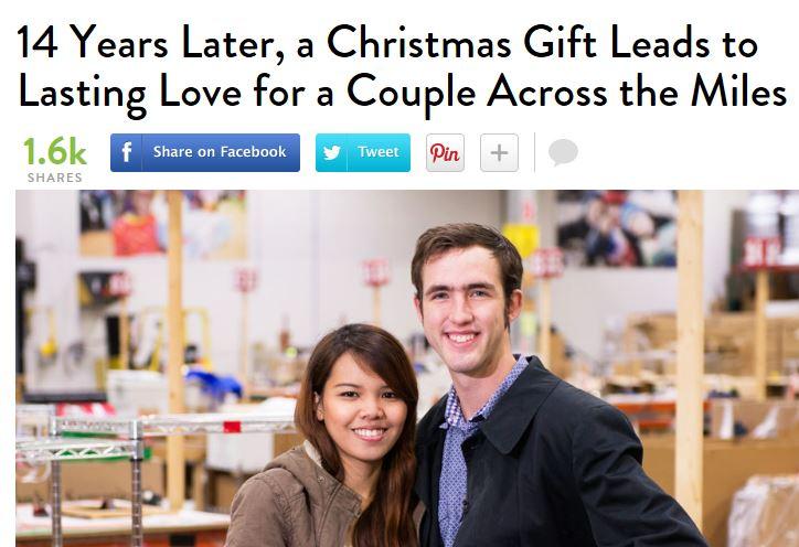 Invia un paio di scarpe a una bimba povera, 15 anni dopo la sposa