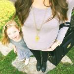 i selfie al pancione che cresce con figlia accanto sono virali01
