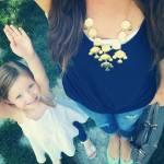 i selfie al pancione che cresce con figlia accanto sono virali08
