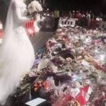 Massacro Sydney, sposa musulmana dona bouquet alle vittime3