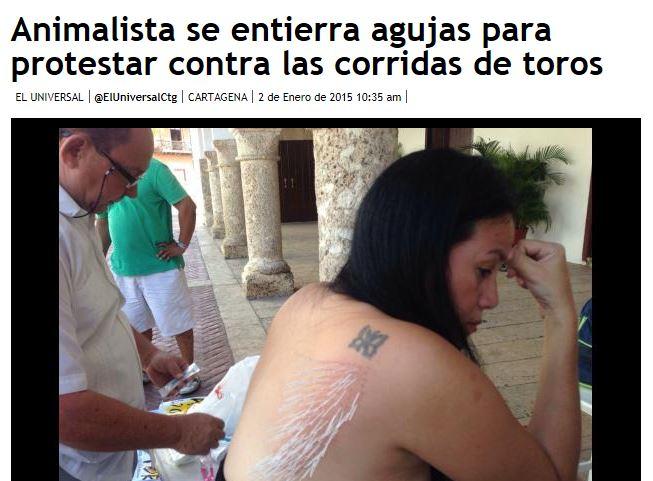 2500 aghi nella schiena come forma di protesta contro la corrida FOTO e VIDEO
