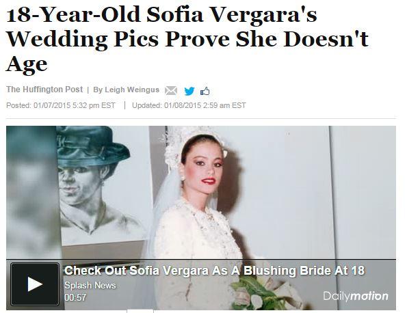 Sofia Vergara, spuntano le foto del matrimonio a 18 anni VIDEO