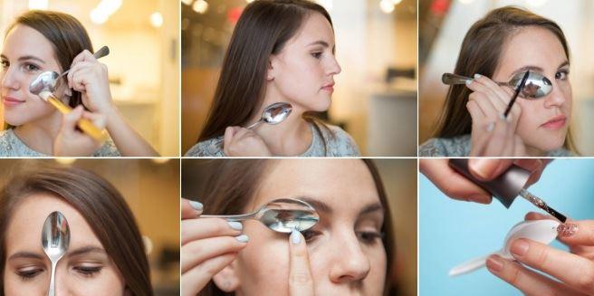 Make Up: come utilizzare un cucchiaio da cucina per truccarsi FOTO