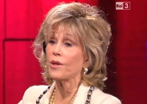 """Jane Fonda a """"Che tempo che fa"""": il sesso, la sensualità e quel bagno nuda..."""