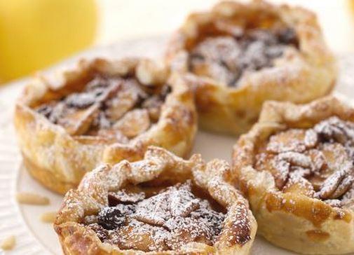 Ricette di dolci: tortine di sfoglia mele e cannella