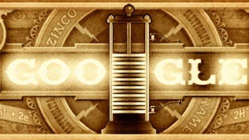 Alessandro Volta compie 270 anni: doodle di Google che celebra il genio italiano