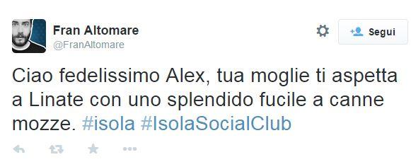 """Isola, Alex Belli eliminato. Ironia in rete: """"Tua moglie ti aspetta col fucile"""""""