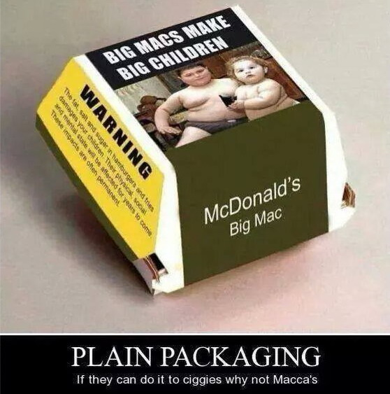 Bambini obesi su confezioni di Big Mac FOTO: Australia, guerra a cibo spazzatura02