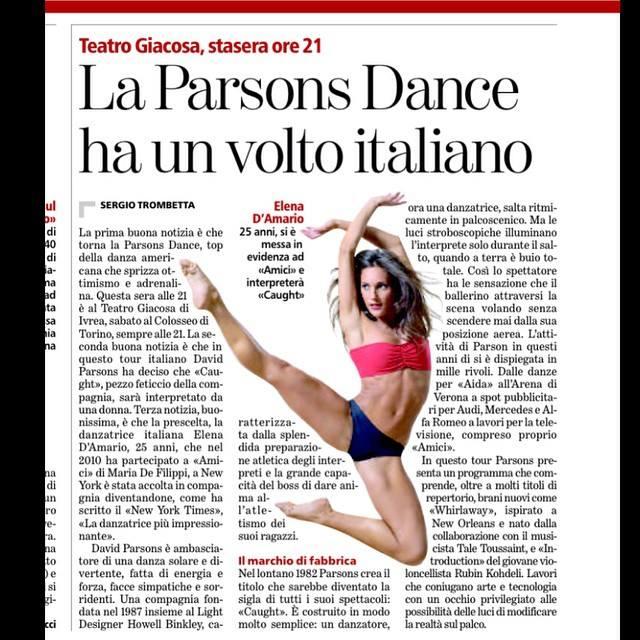 """Elena D'Amario: """"Grazie ad Amici ballo con David Parsons"""" 7"""