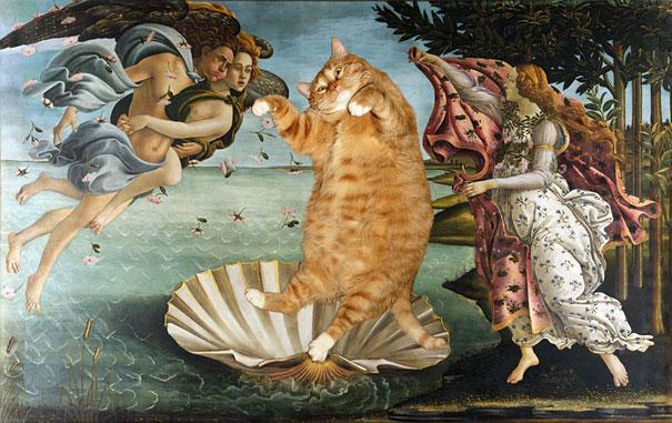 Zarathustra, il gatto rosso grasso nei quadri più famosi 02