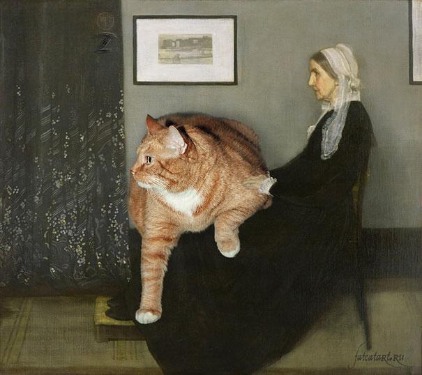 Zarathustra, il gatto rosso grasso nei quadri più famosi