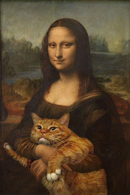 Zarathustra, il gatto rosso grasso nei quadri più famosi 11