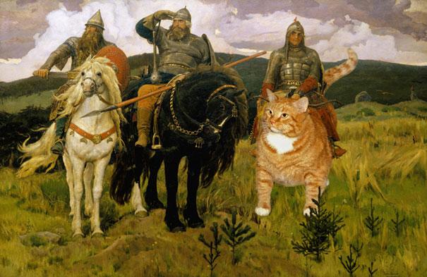 Zarathustra, il gatto rosso grasso nei quadri più famosi 07