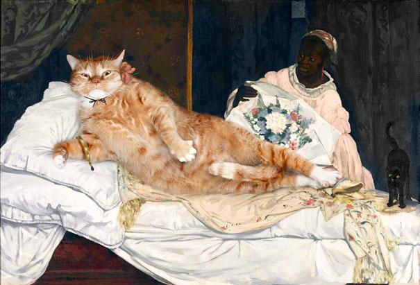 Zarathustra, il gatto rosso grasso nei quadri più famosi 06