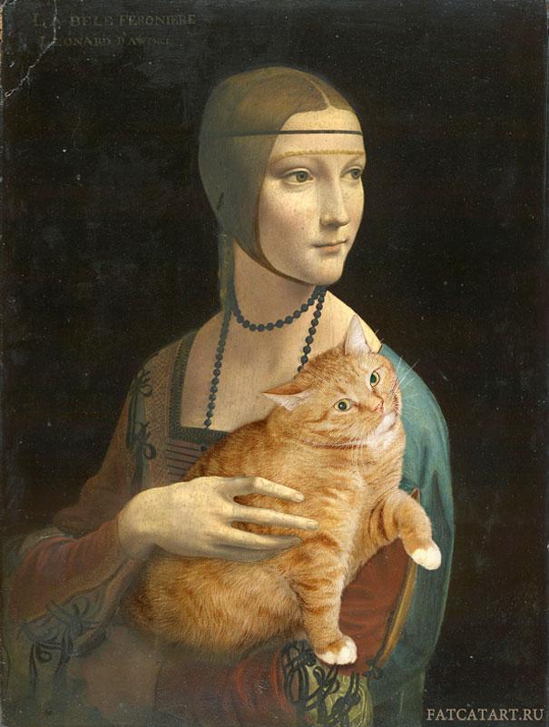 Zarathustra, il gatto rosso grasso nei quadri più famosi 05