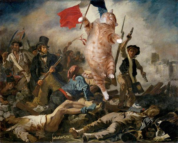 Zarathustra, il gatto rosso grasso nei quadri più famosi 04