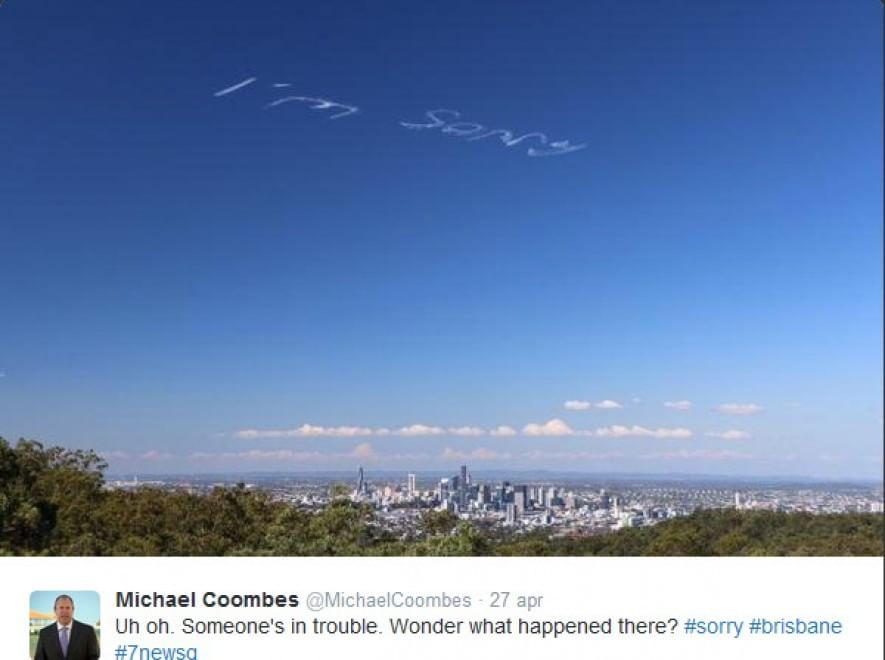 """Australia, aereo scrive """"I'm sorry"""" in cielo: committente resta misterioso FOTO 03"""
