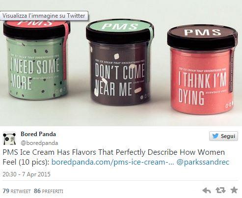 Gelato per alleviare malumore premestruale: creata una marca ad hoc