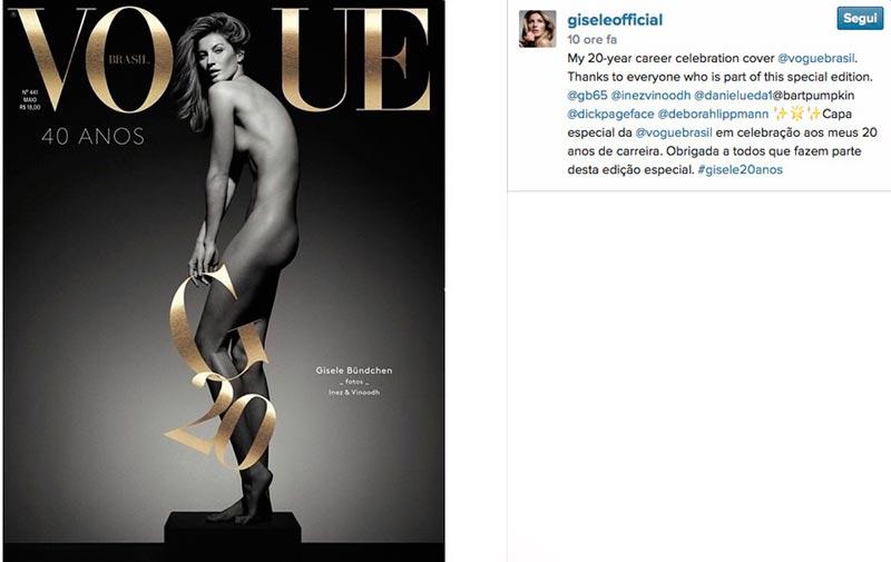 Gisele Bundchen nuda su Vogue Brasile per i 40 anni del magazine FOTO03