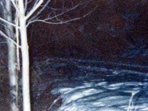 Una foto contenuta nel fascicolo con un presunto gnomo sulla neve