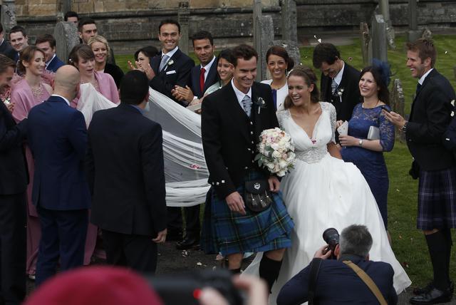 Andy Murray, matrimonio in kilt con Kim Sears 02